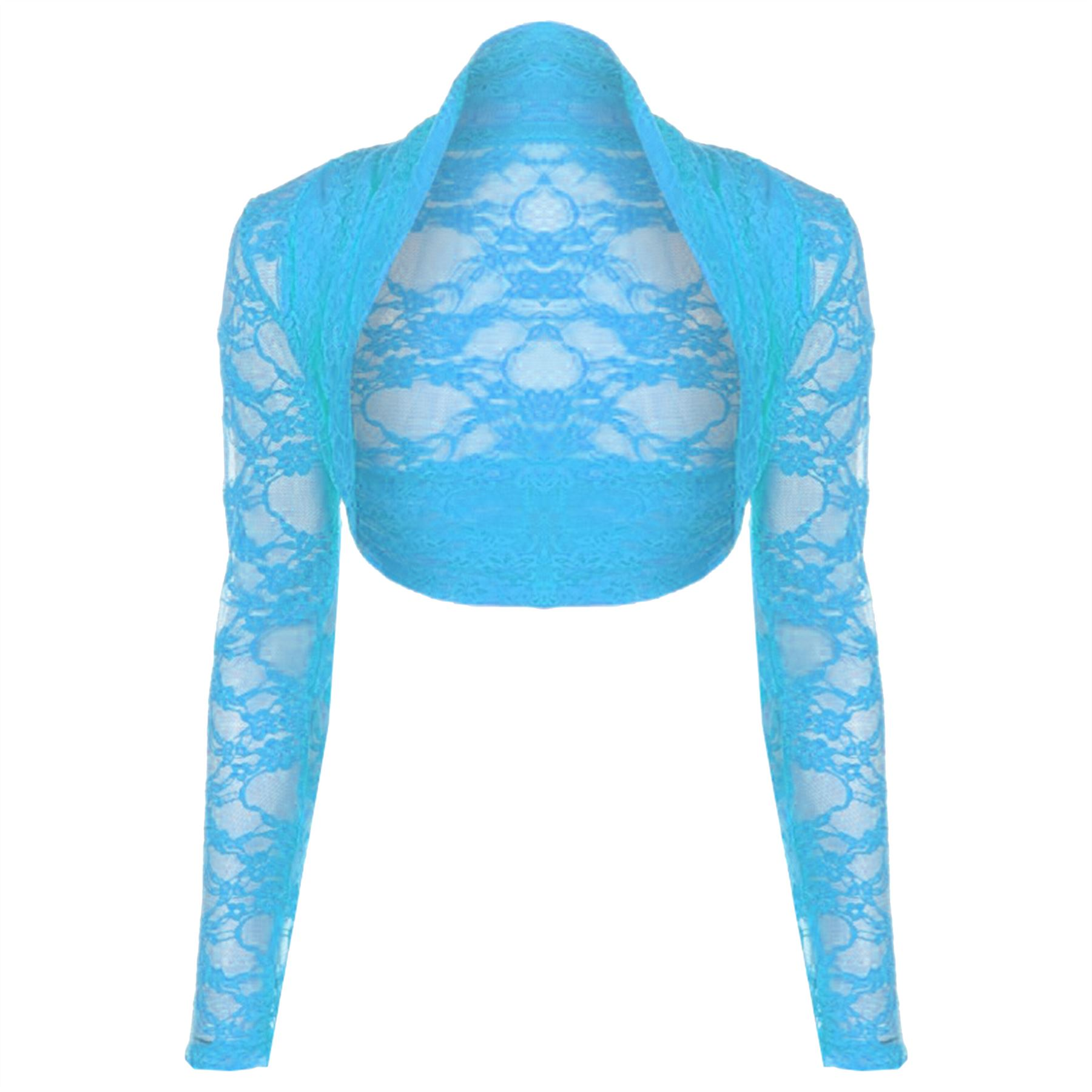 Womens-Ladies-Open-Bolero-Long-Sleeves-Floral-Lace-Cardigan-Shrug-Top-Plus-Sizes