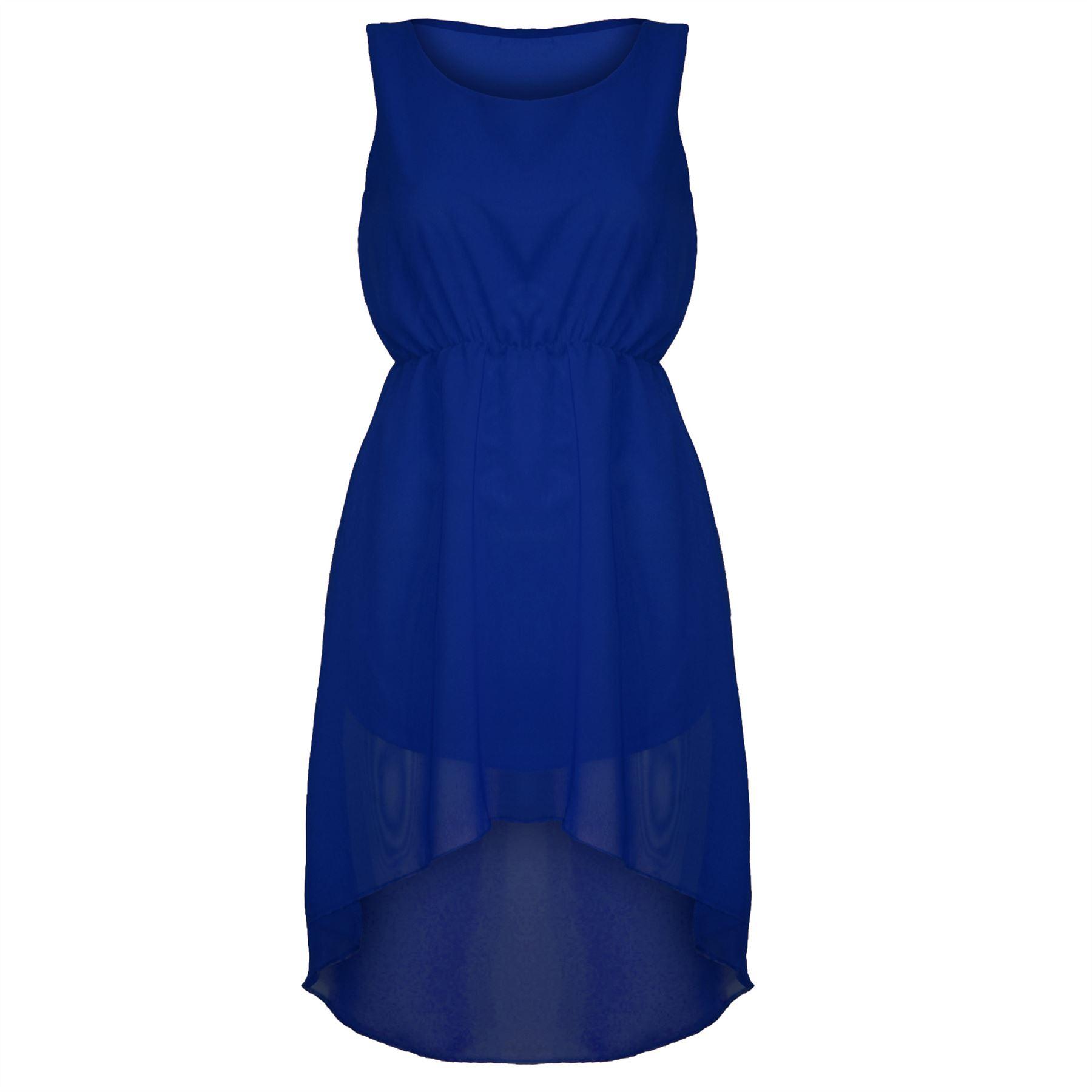 womens ruched waist back dipped sleeveless chiffon high