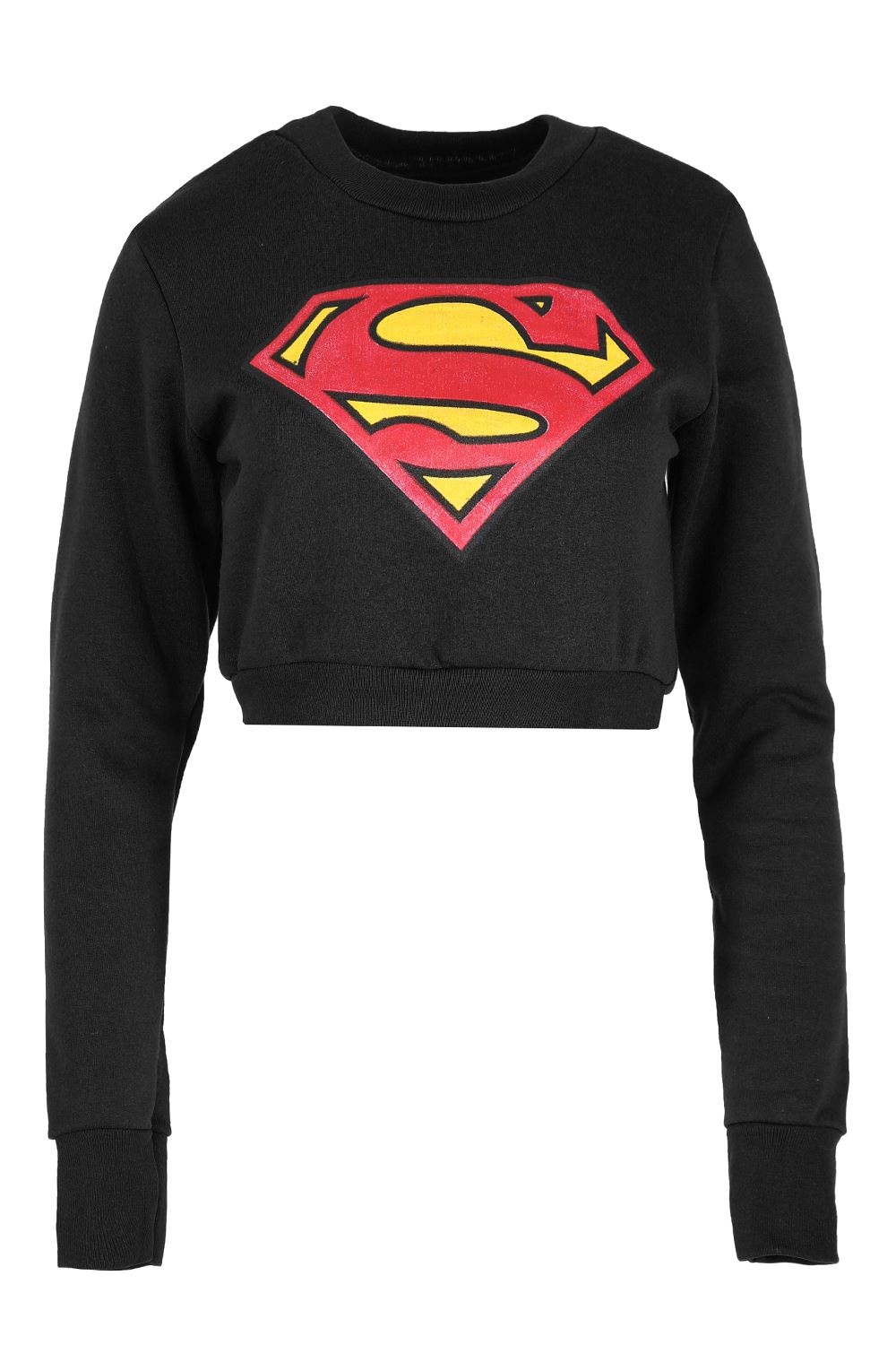 womens superman batman cropped tops ladies fleece