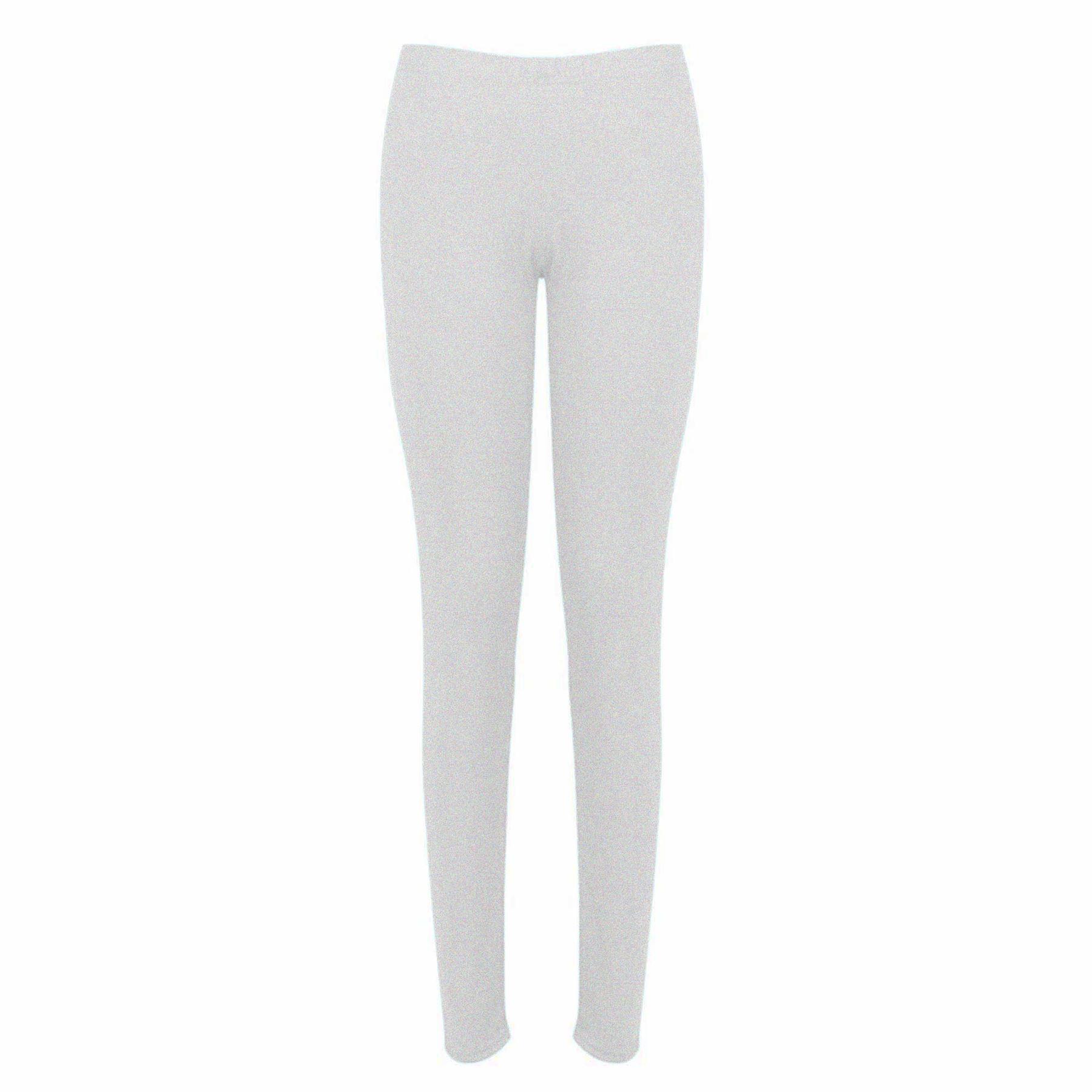 Womens Ladies Plain Basic Stretchy Full Ankle Length Trousers Pants Leggings