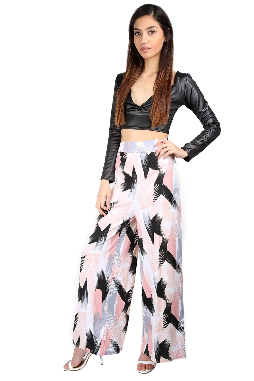 Womens Ladies Off Shoulder Peplum Polo Neck Crop Top Wetlook PVC PU Midi Skirt
