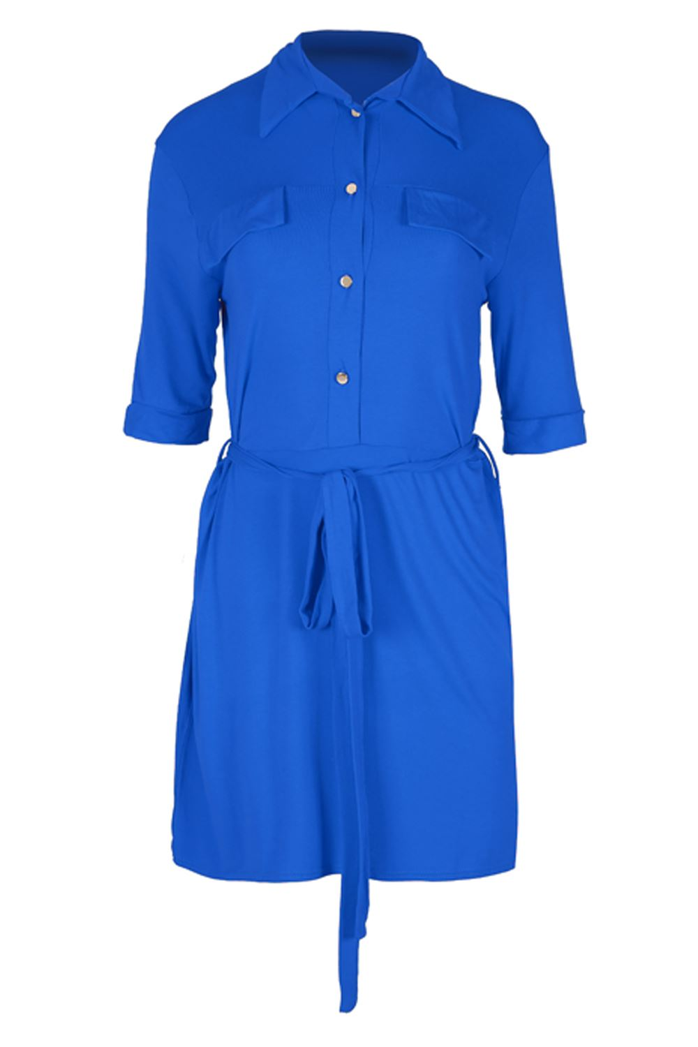 Beautiful Nude Belted Shirt Dress From Kenzo Featuring A Cutaway Collar, A Concealed Front Fastening And Short Sleeves Size 42 Color Nudeneutrals Gender Female Material LinenFlaxPolyesterCuproViscose