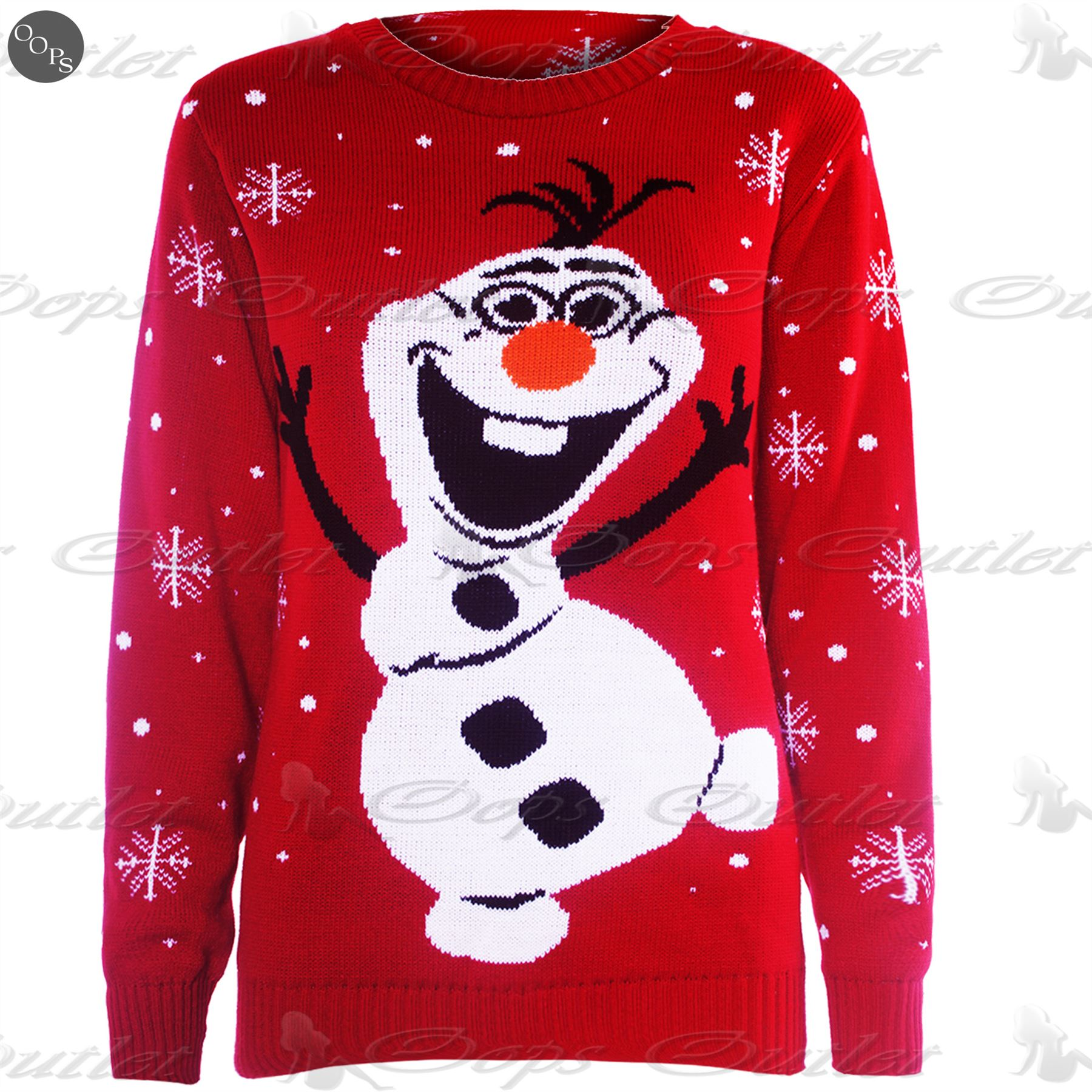 Olaf Christmas Jumper Knitting Pattern : Mens Womens Unisex Knitted Pom Pom Santa Snowman Olaf Christmas Sweater Jumpe...