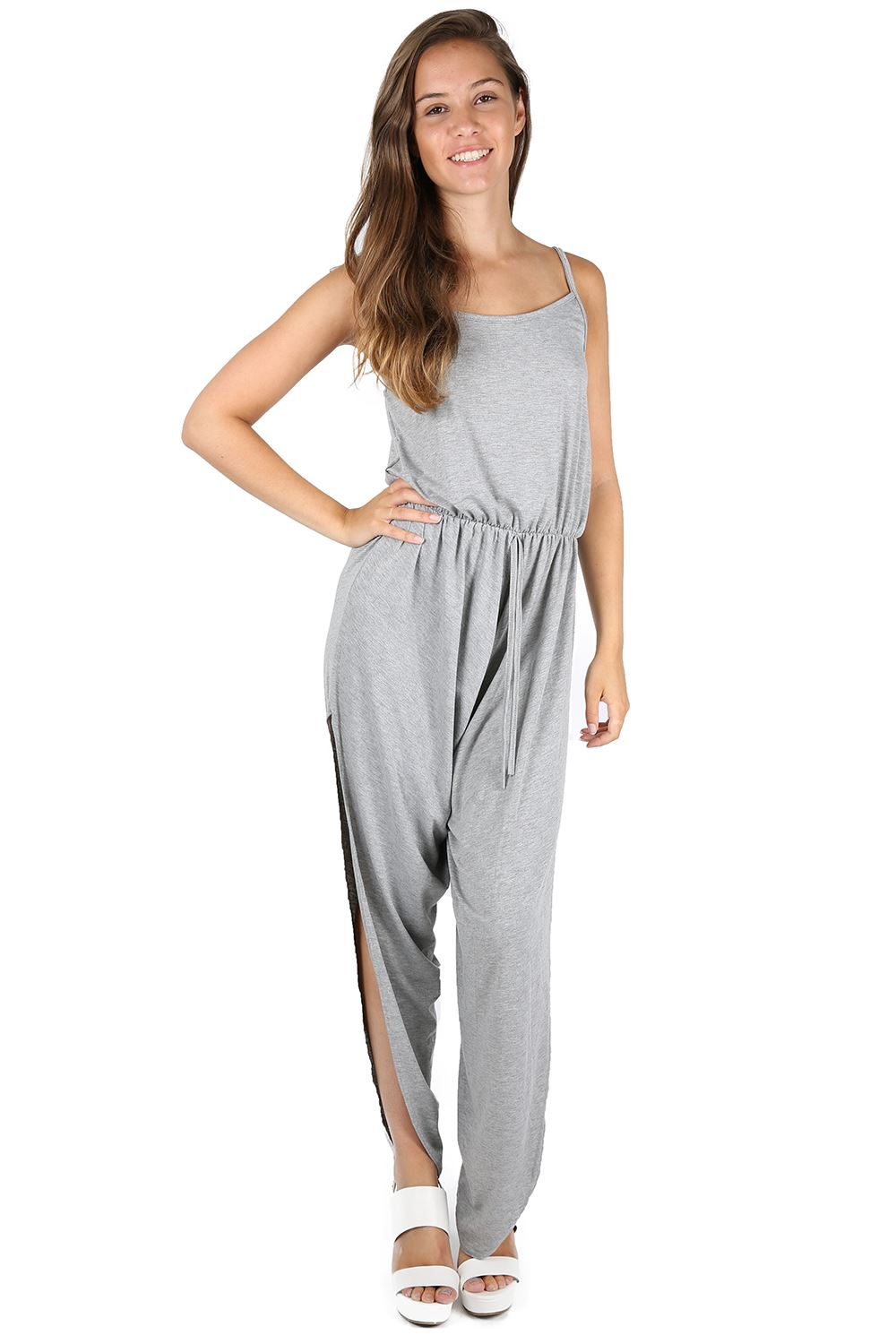 Create a coordinated look with our collection of women's jumpsuits and playsuits – you'll never need to hunt for a matching blouse and trousers set again with these full-length outfits. Textured finishes such as lace, ruffles and chiffon add detail and a feminine finish. Women; Women's Jumpsuits & Playsuits; Open filters. Hide out of.