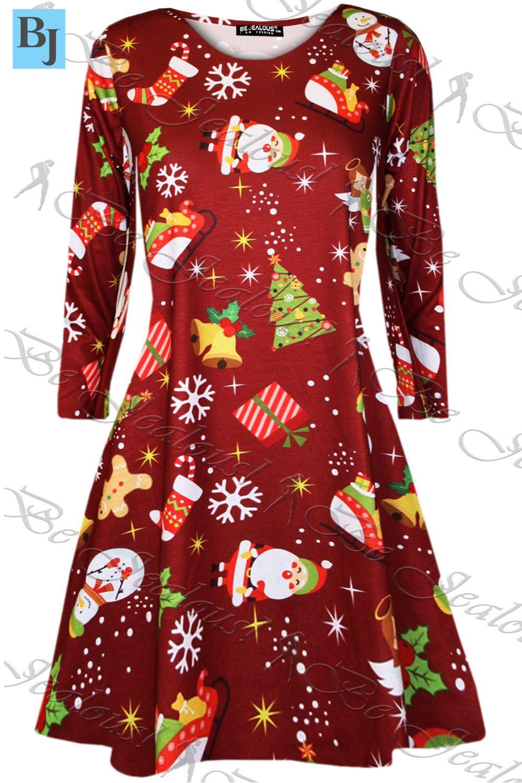 Womens kids xmas girls christmas santa gift tie candy