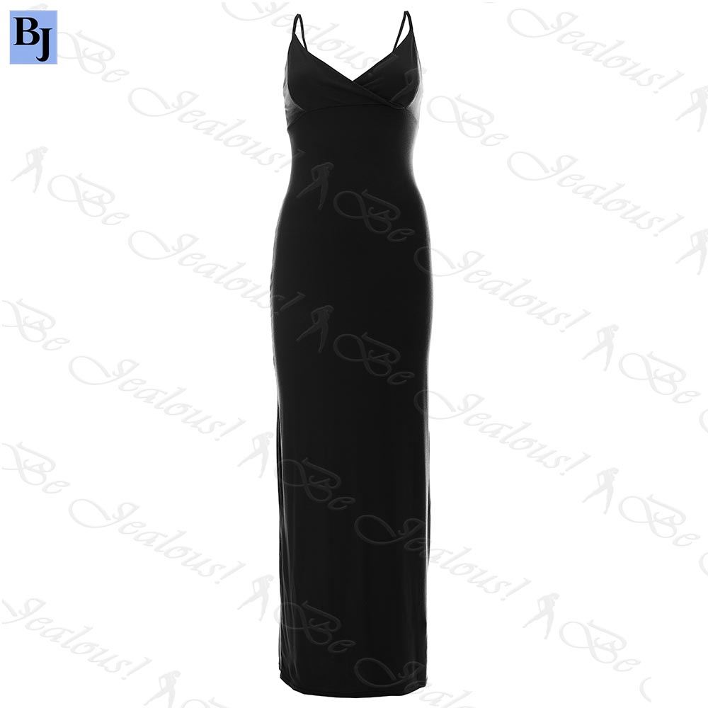 Womens-Ladies-Basic-Cami-Crossover-Strappy-Boobtube-Bodycon-Bra-Wrap-Maxi-Dress