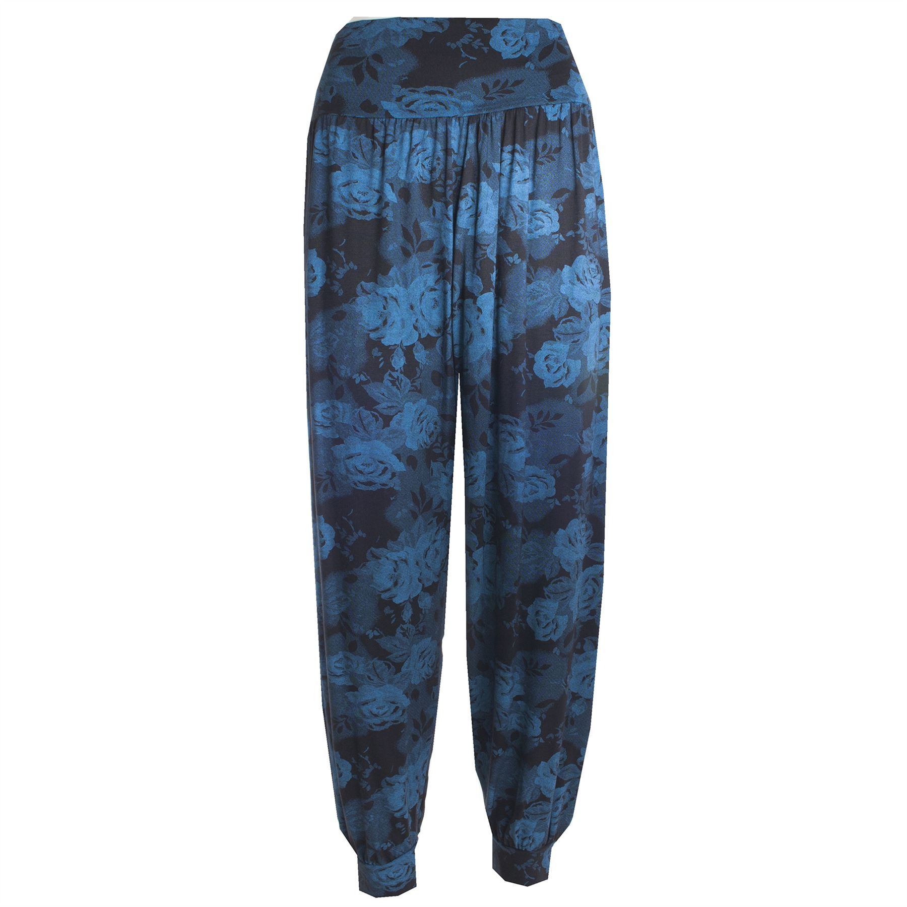 Womens Ladies Printed Ali Baba Bottoms Harem Pants Trousers ...