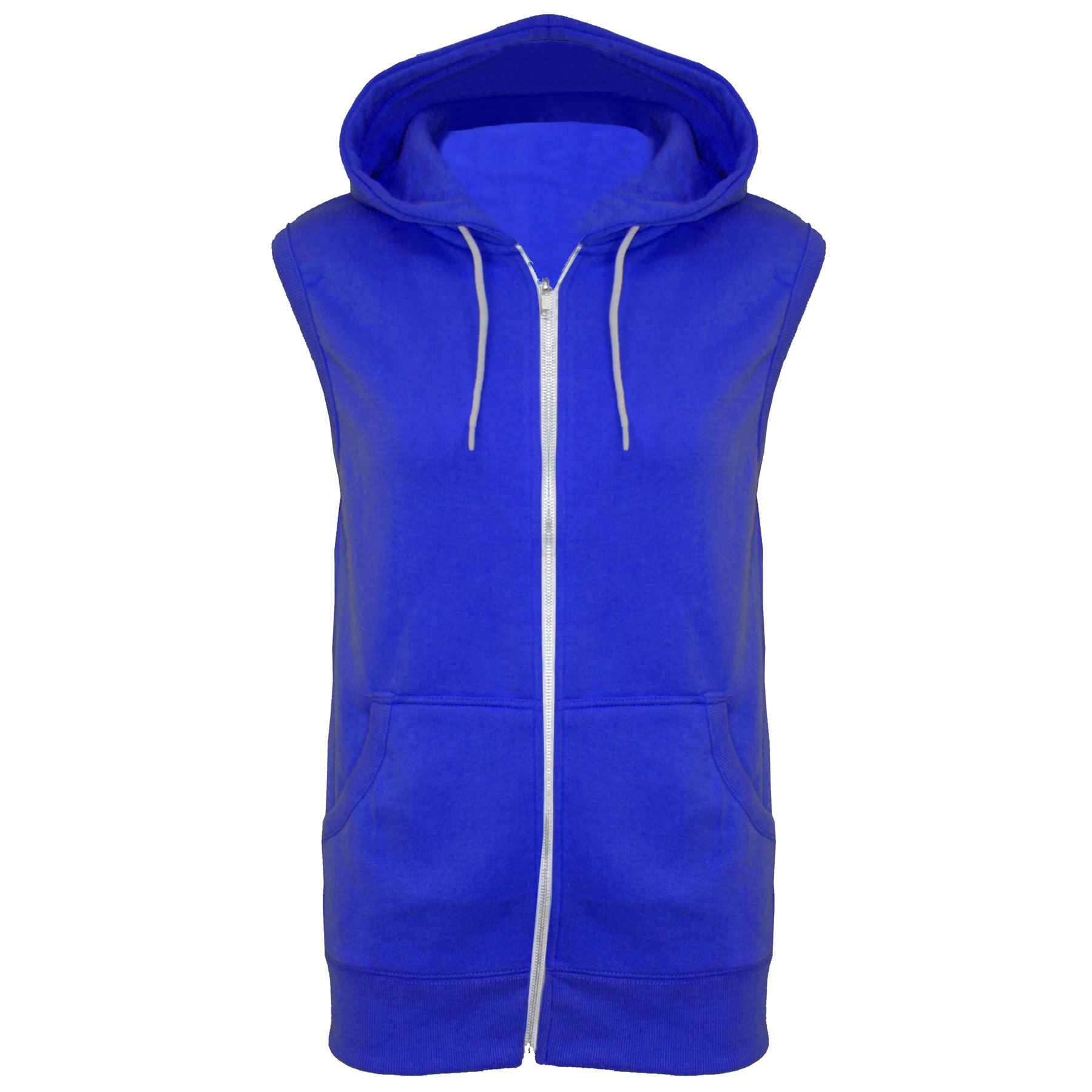 Mens-Sleeveless-Hooded-Zipper-Sweatshirt-Hoodie-Casual-Gilet-Jacket-Jumper-Top