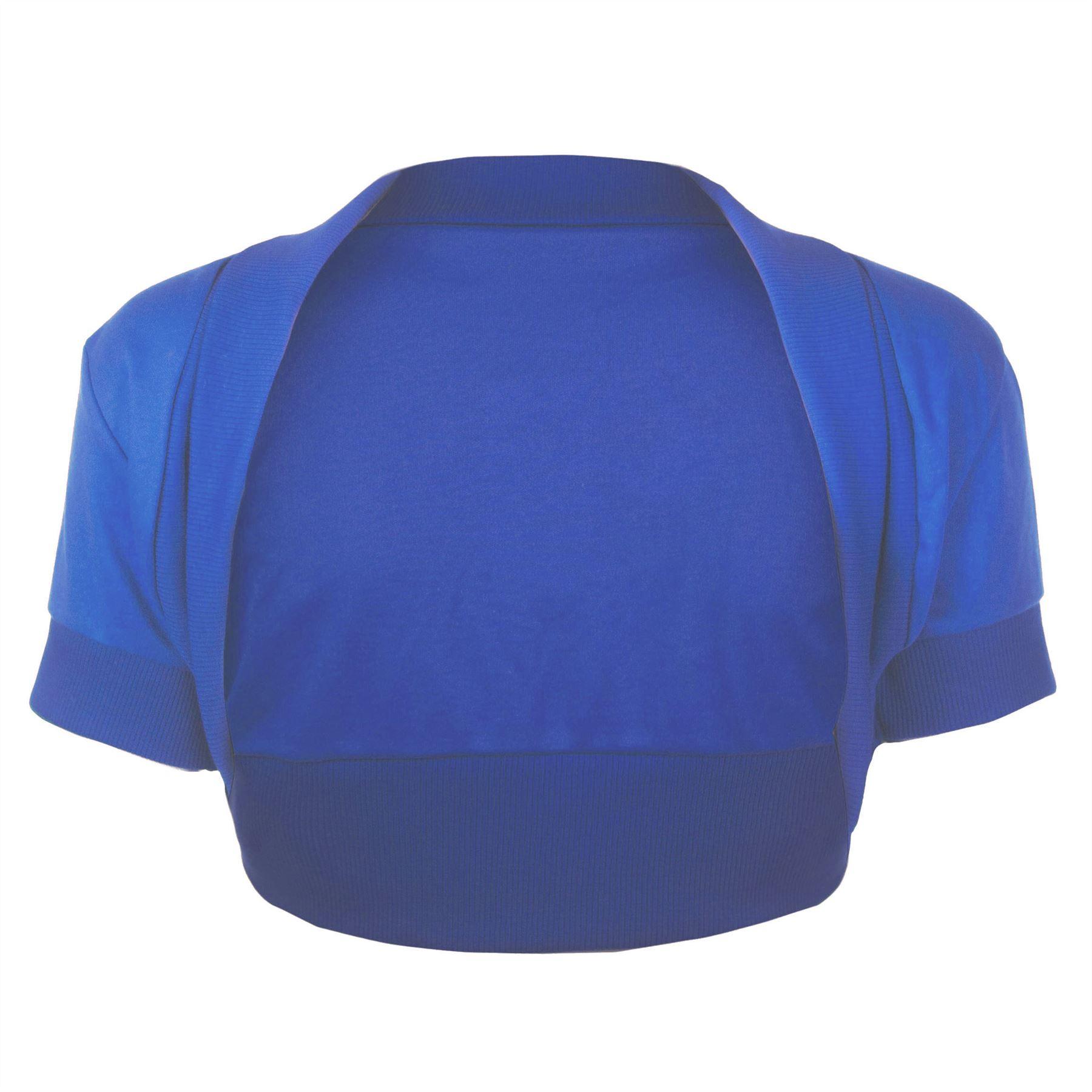 Womens-Cropped-Ladies-Bolero-Short-Sleeves-Open-Cardigan-Shrug-Top-Plus-Sizes