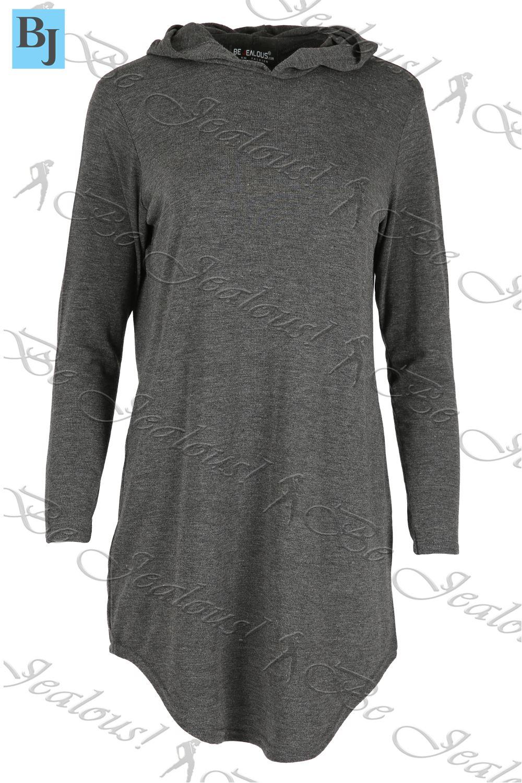 Capucha plain loose holgados vestido talla plus ver t 237 tulo original