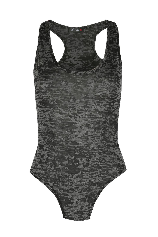 Donna-Esercito-Floreale-Senza-Maniche-Incrocio-A-Vogatore-Body-Body-Top-Da-Donna
