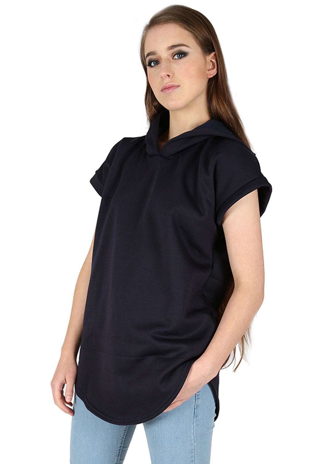 Curved Hem Shorts Curved-hem-short-sleeve