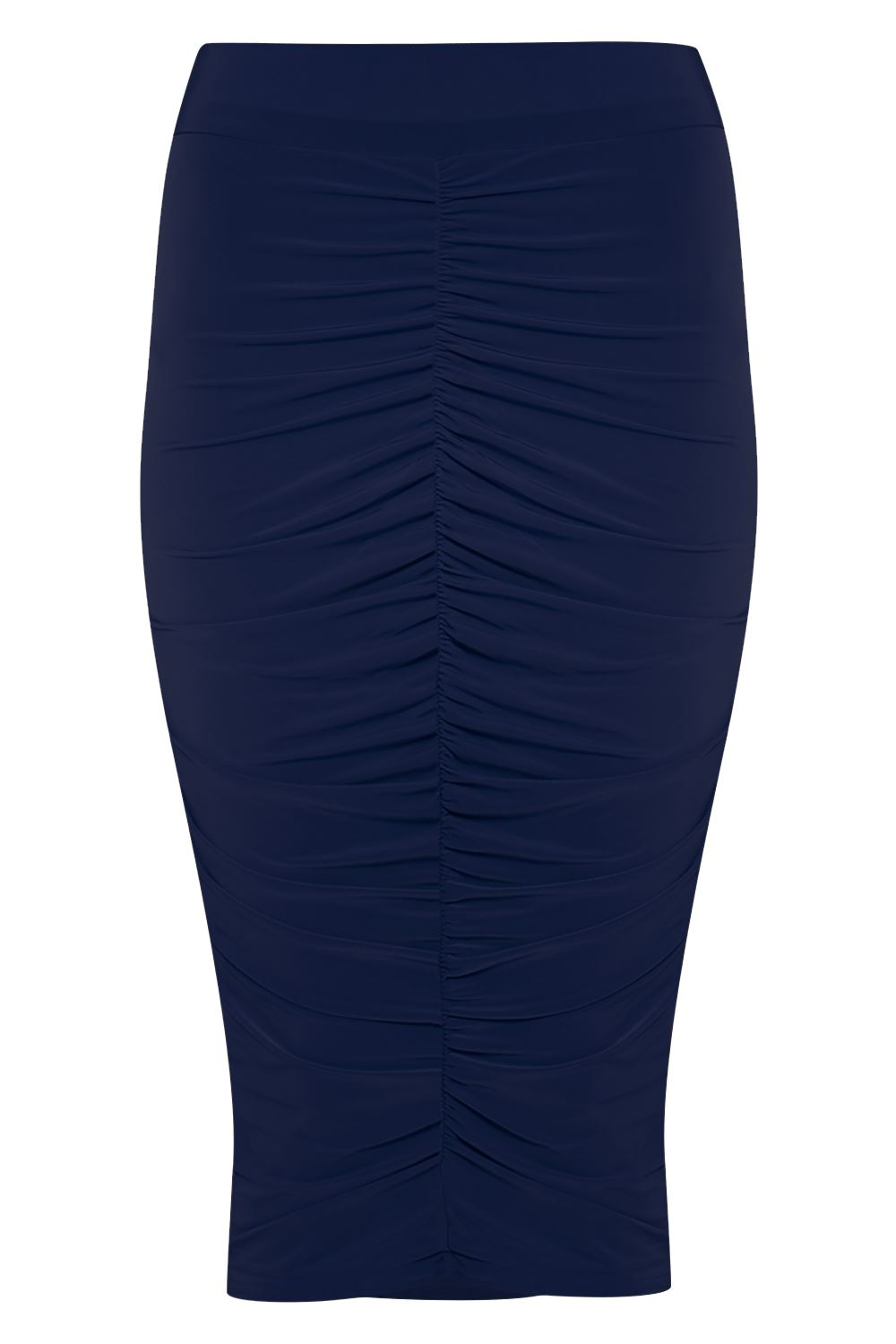 new womens stretchy front ruched pencil