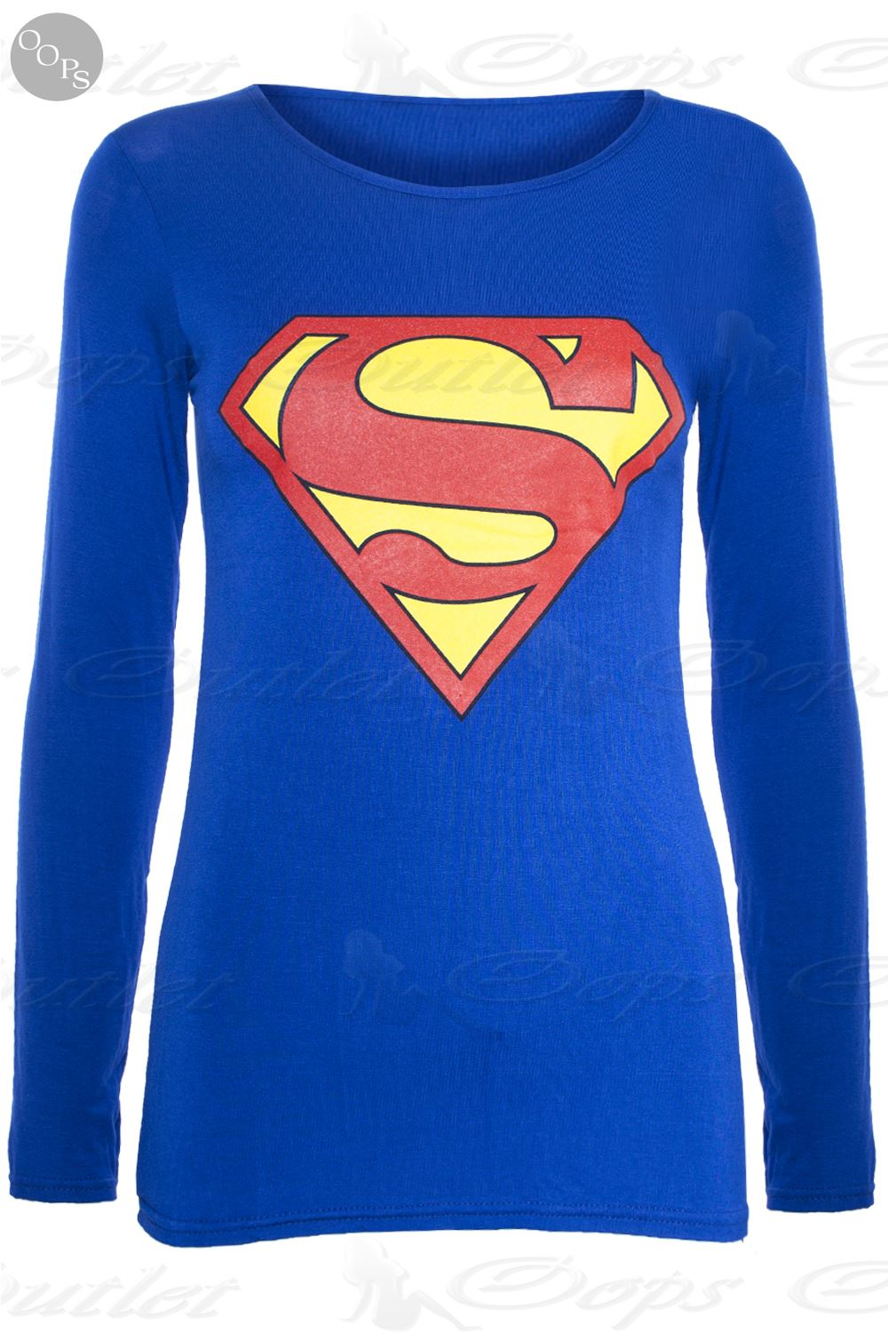 womens ladies superman batman cap long sleeves t shirt sweatshirt hoodies tops ebay. Black Bedroom Furniture Sets. Home Design Ideas