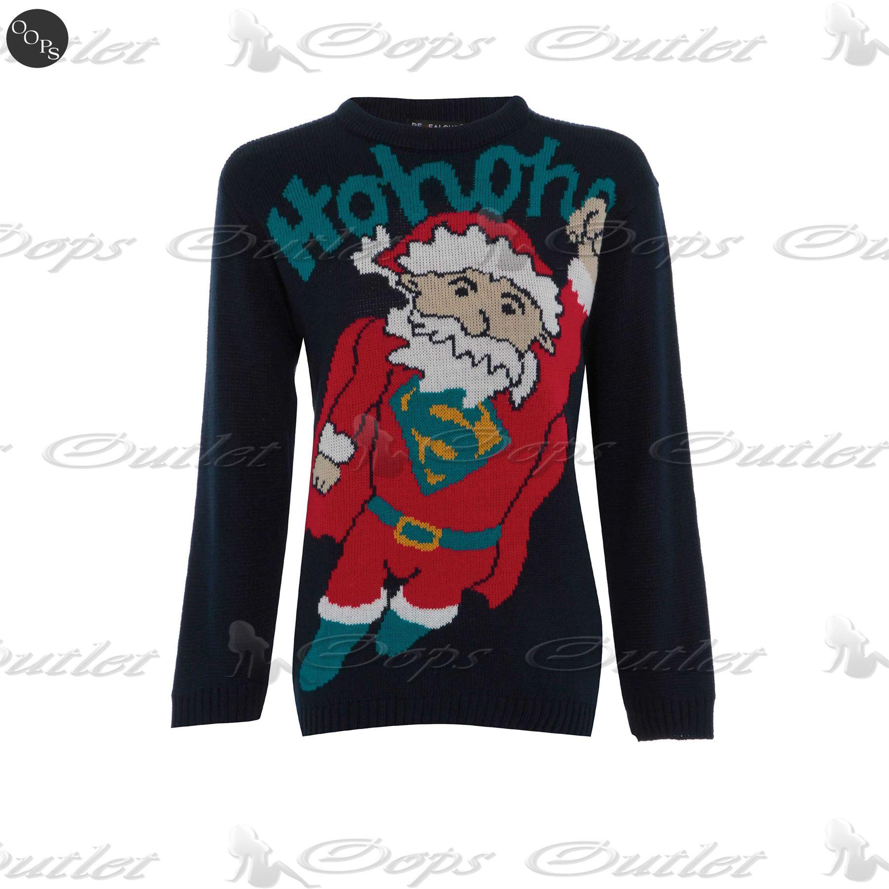 CLEARANCE SALE Boys Girls Novelty Christmas Sweater Batman Superman Santa Jumper
