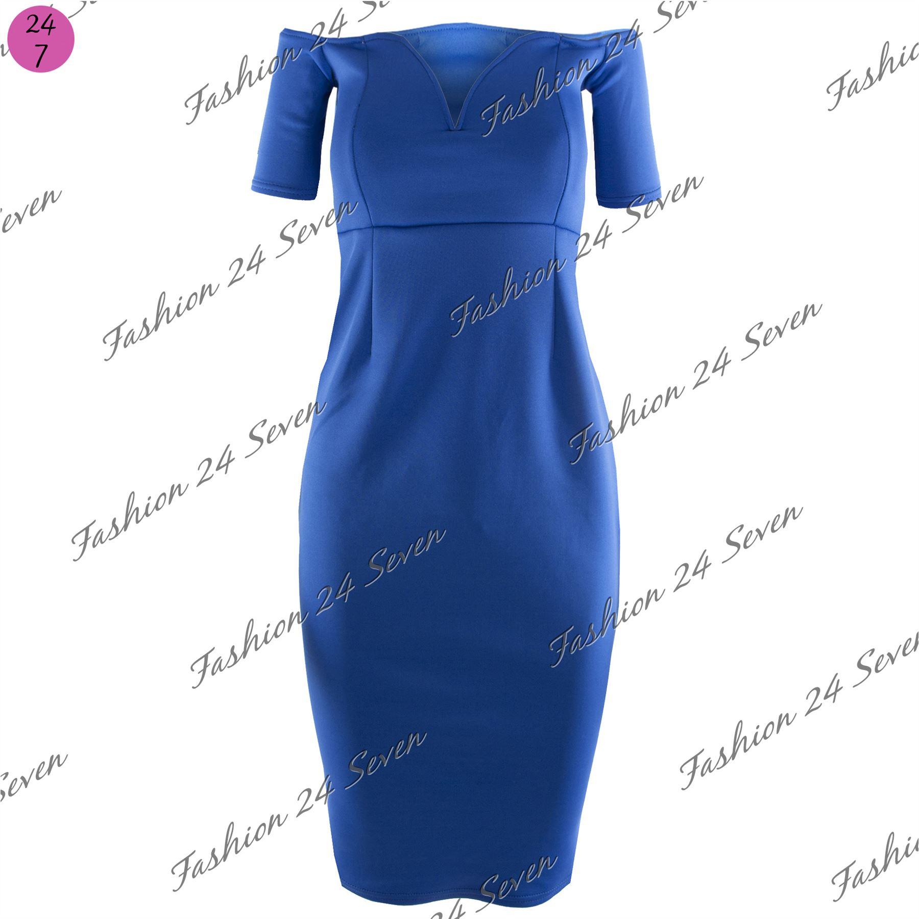 New-Womens-Ladies-Boobtube-Bandeau-Off-Shoulder-V-Neck-Bralet-Bodycon-Midi-Dress