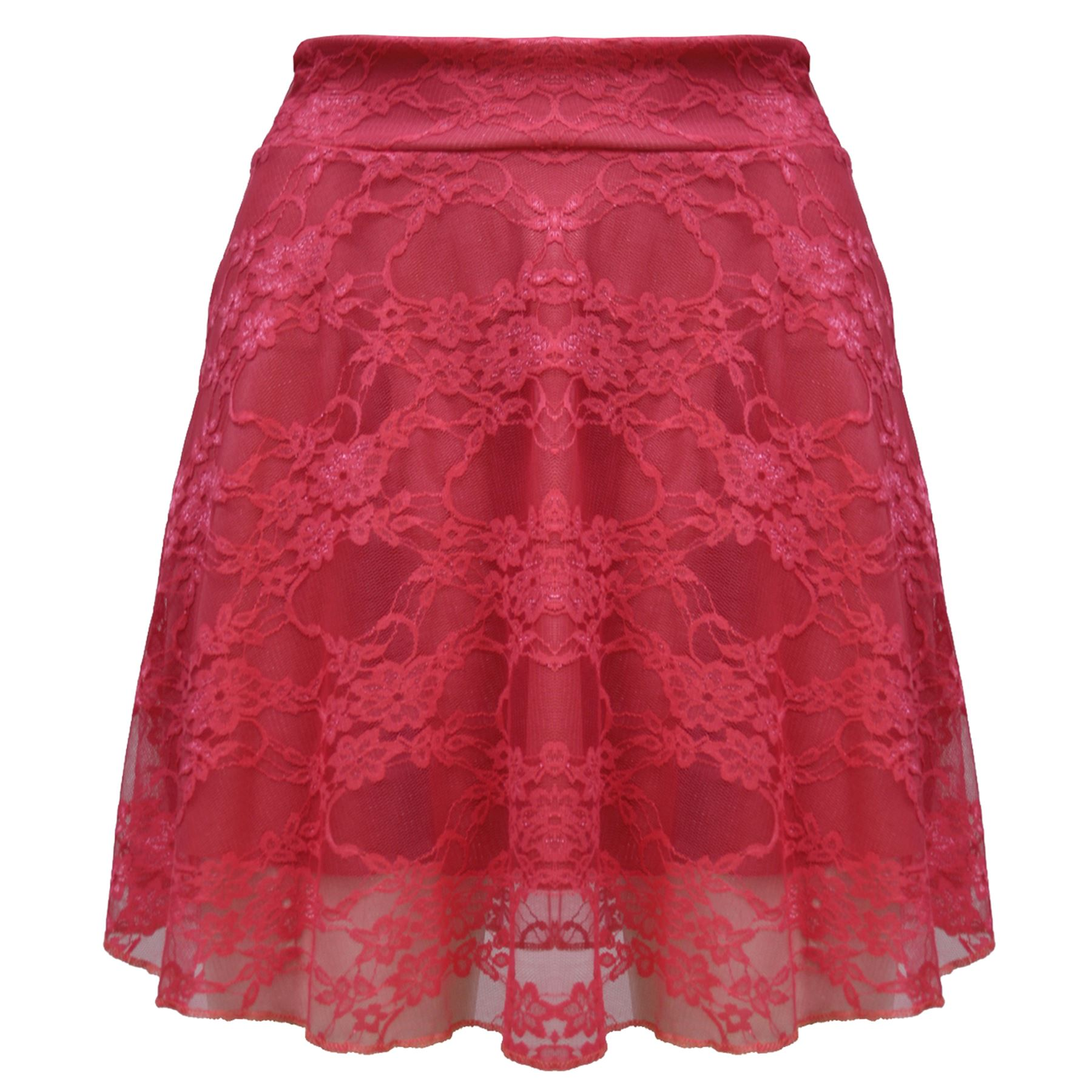 womens stretchy high waist lace mesh flared