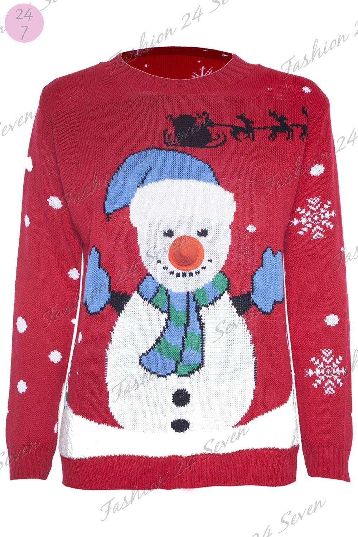CLEARANCE SALE Womens Ladies Xmas Santa Fur Olaf Frozen Like Warm Hugs Jumper