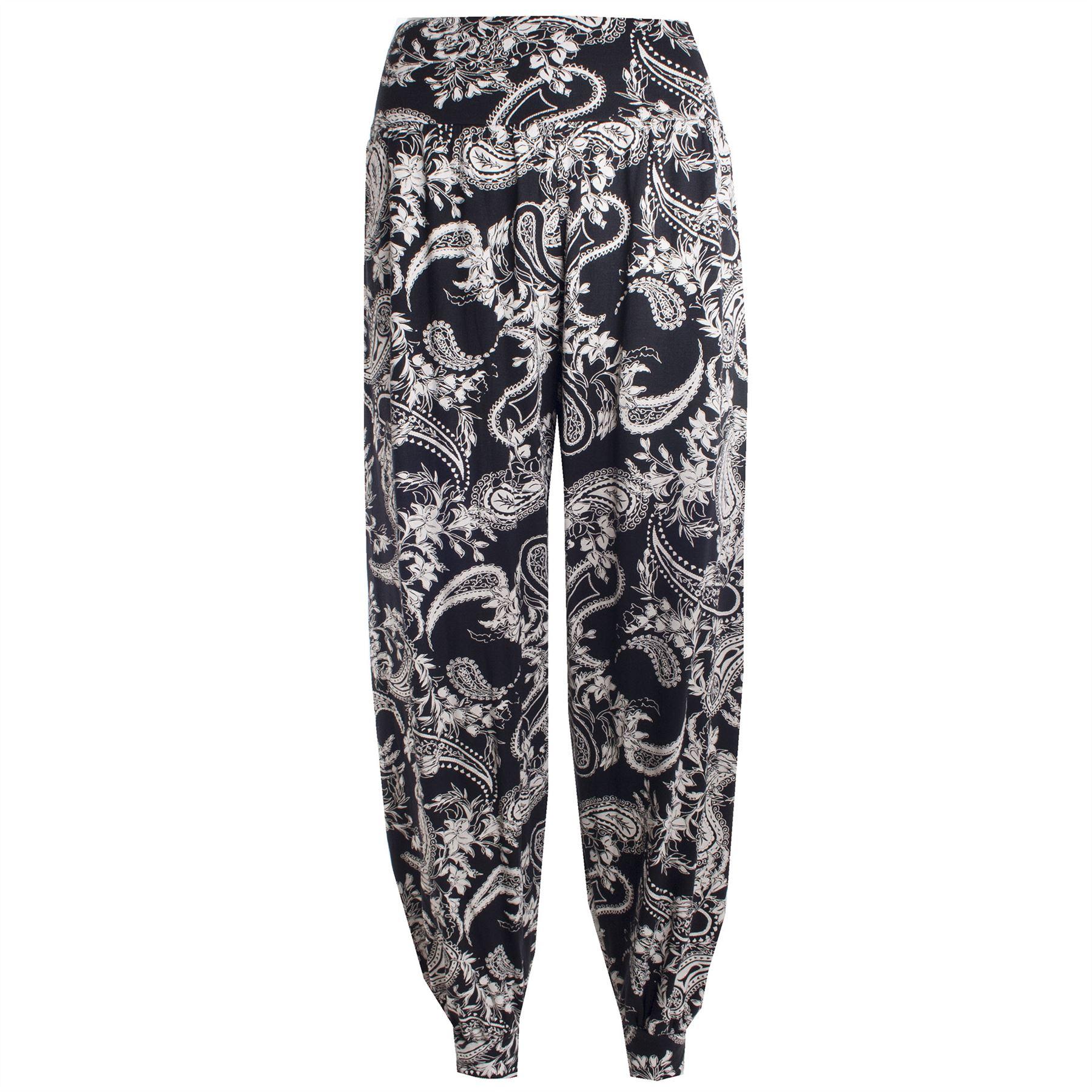 Womens Ladies Harem Pants Printed Ali Baba Bottoms Trousers Leggings Plus Sizes