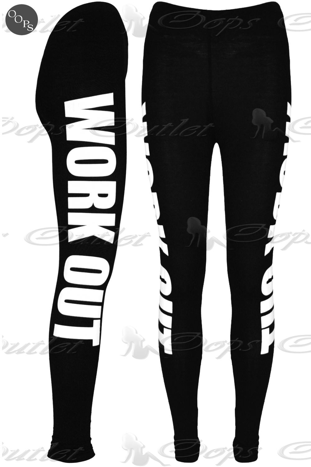 Womens Ladies Like A Boss Workout New York Brooklyn Full Length Stretch Leggings
