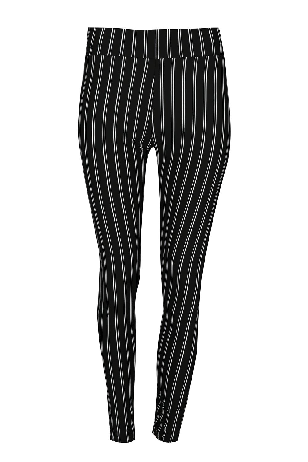Ladies Striped Leggings. These leggings feature a long stripe print, a stretchy fit, and a lightweight feel. Approximately 41