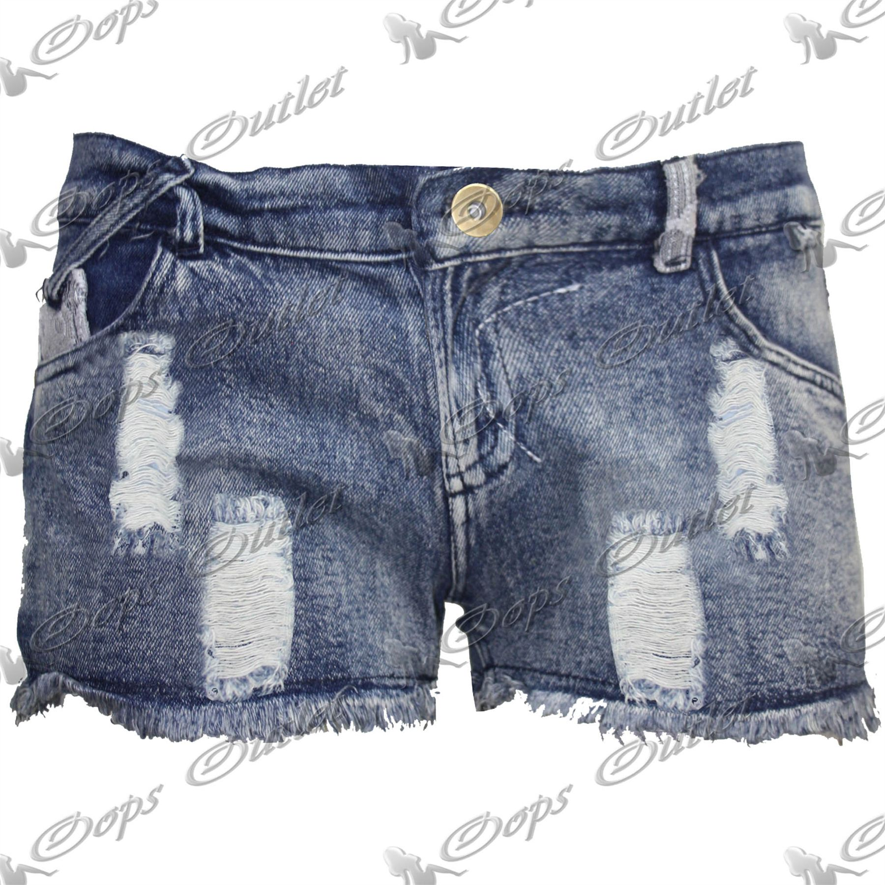 Womens-Ladies-Ripped-Raw-Edge-Torn-Distressed-Denim-Shorts-Frayed-Hot-Pants-Size
