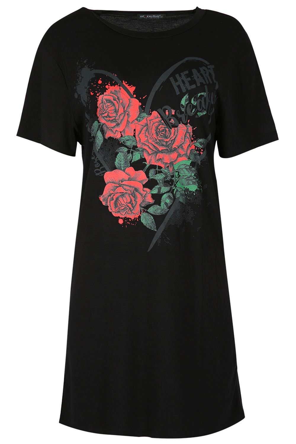 Womens ladies floral roses embroidery oversized baggy