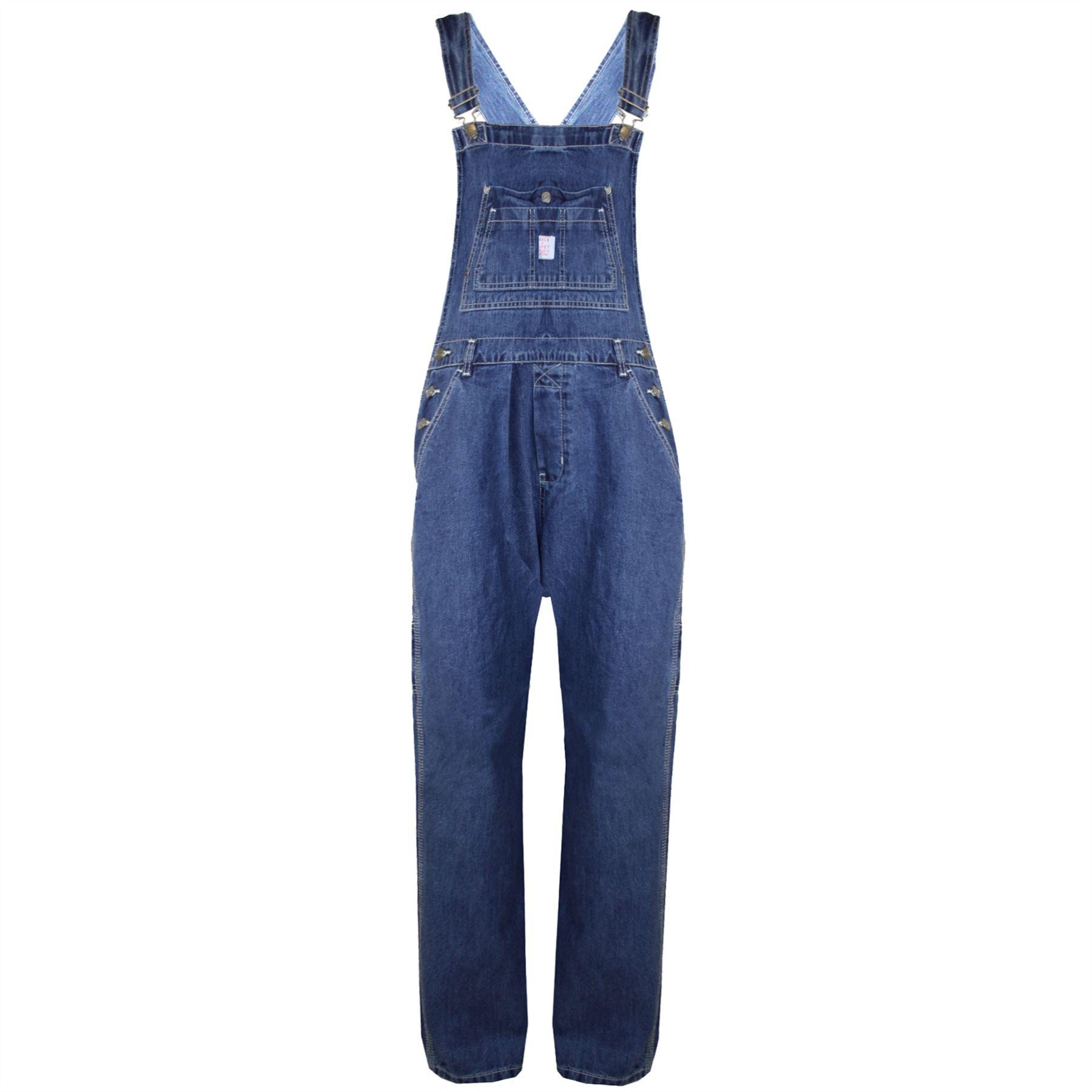 damen jeans schlabber denim helle waschung kinderkittel latzhose overall ebay. Black Bedroom Furniture Sets. Home Design Ideas