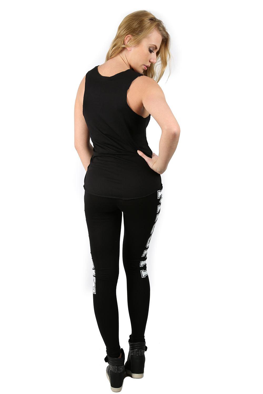 Womens Ladies Like A Boss Workout New York Brooklyn Full Length Stretch Leggings