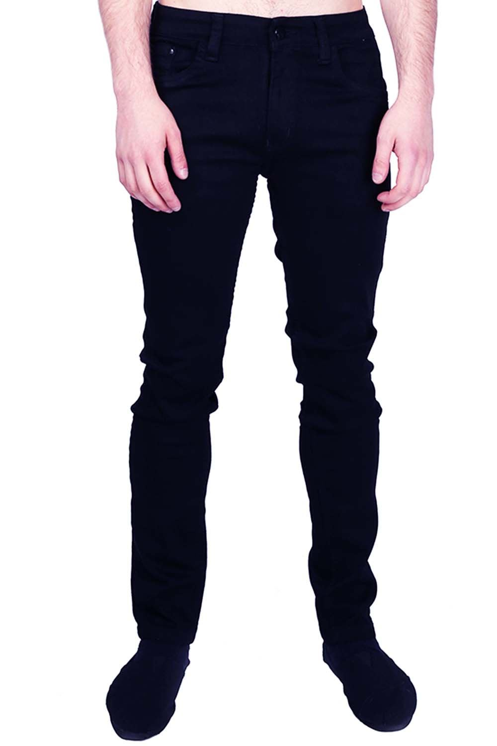 Mens Original Branded Tapered Cotton Regular Designer Slim Jeans ...