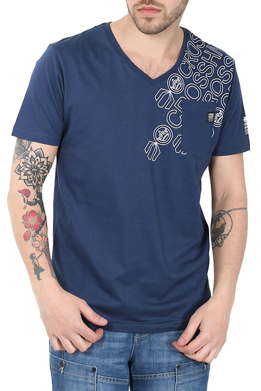 crosshatch mens digraph t shirt designer casual v neck