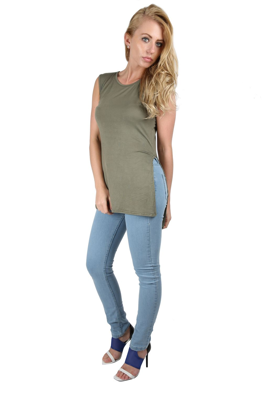Womens Blue Linen Shirt