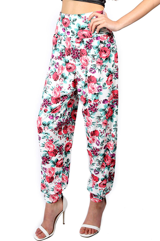 Brilliant New Womens Ali Baba Trousers Ladies Harem Pants Floral Printed Bottoms Leggings | EBay