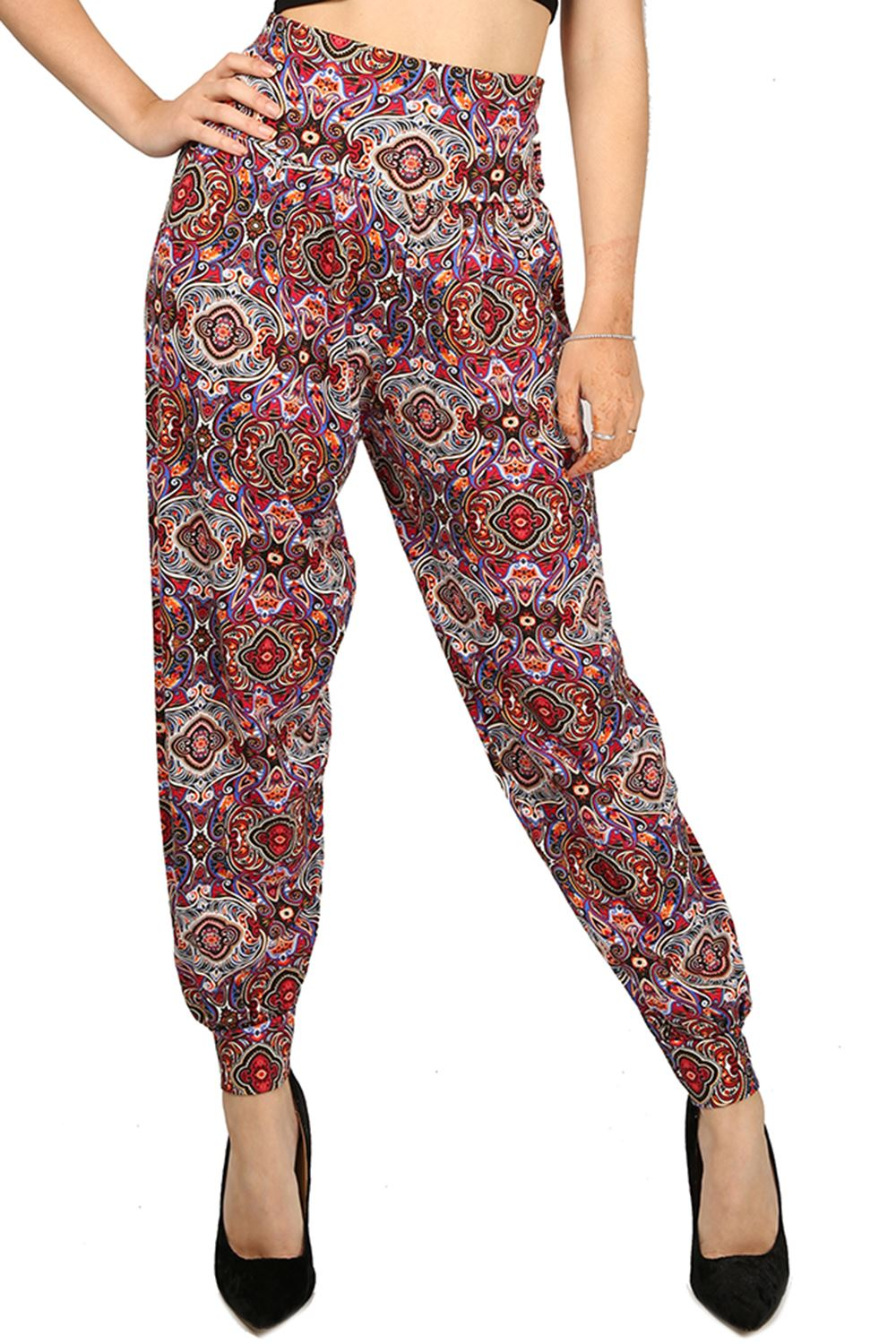 Innovative Womens Ladies Tropical Printed Ali Baba Bottoms Harem Pants Trousers Leggings