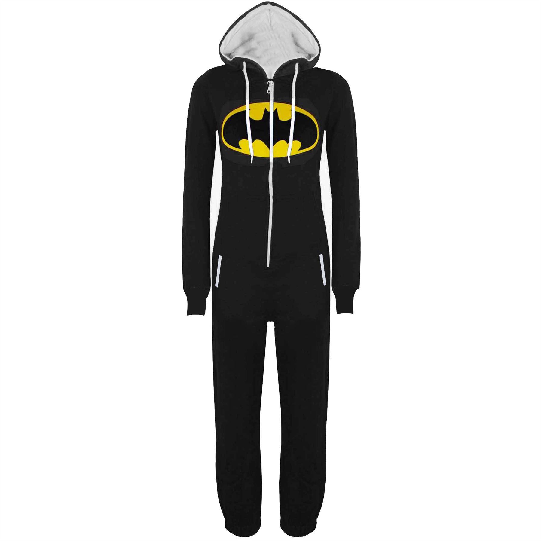 Kids-Boys-Girls-Superman-Batman-Playsuit-All-In-One-Piece-Onesie-Jumpsuit-Size