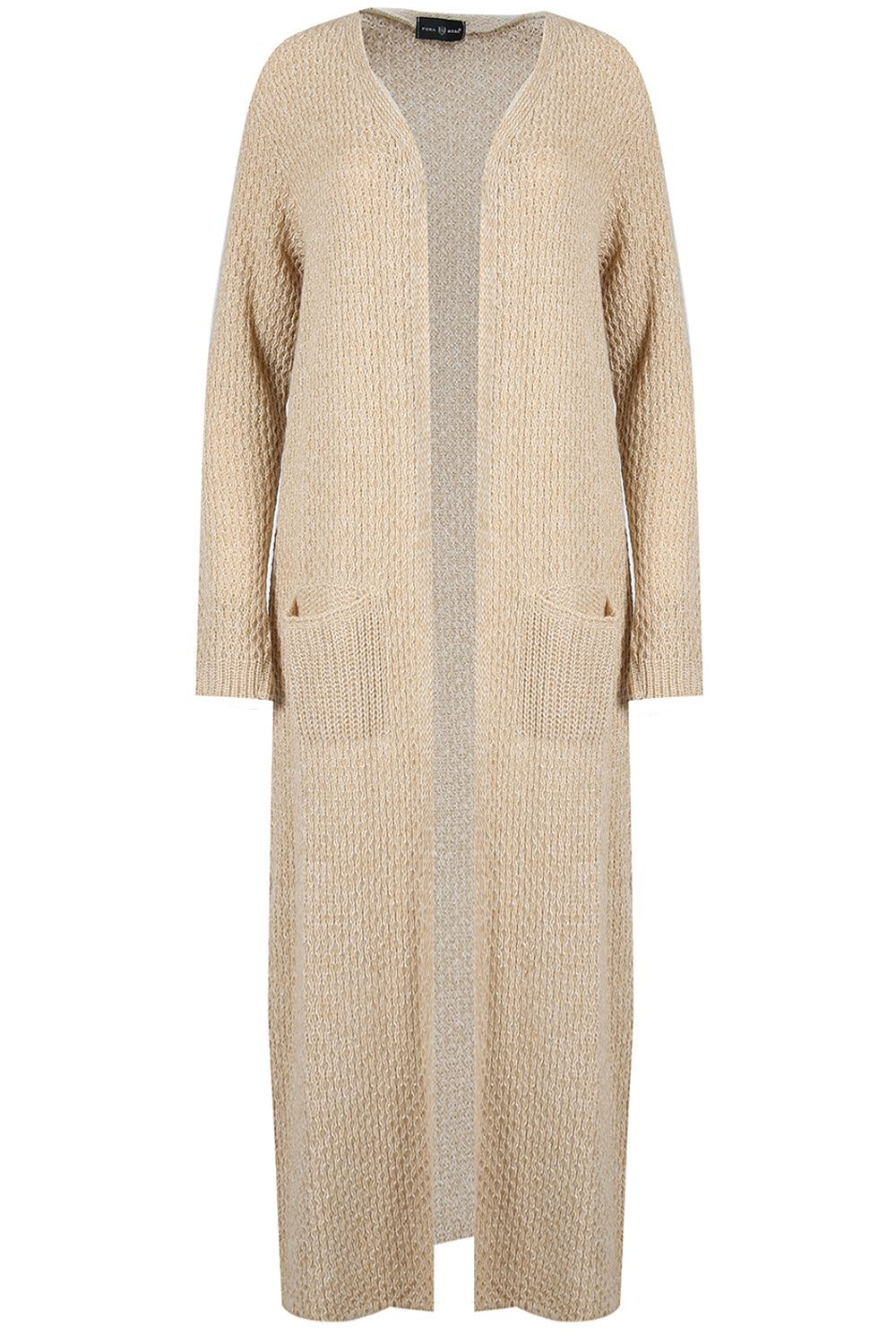 Womens-Ladies-Oversized-Long-Line-Chunky-Knit-Open-Front-Jumper-Maxi-Cardigan