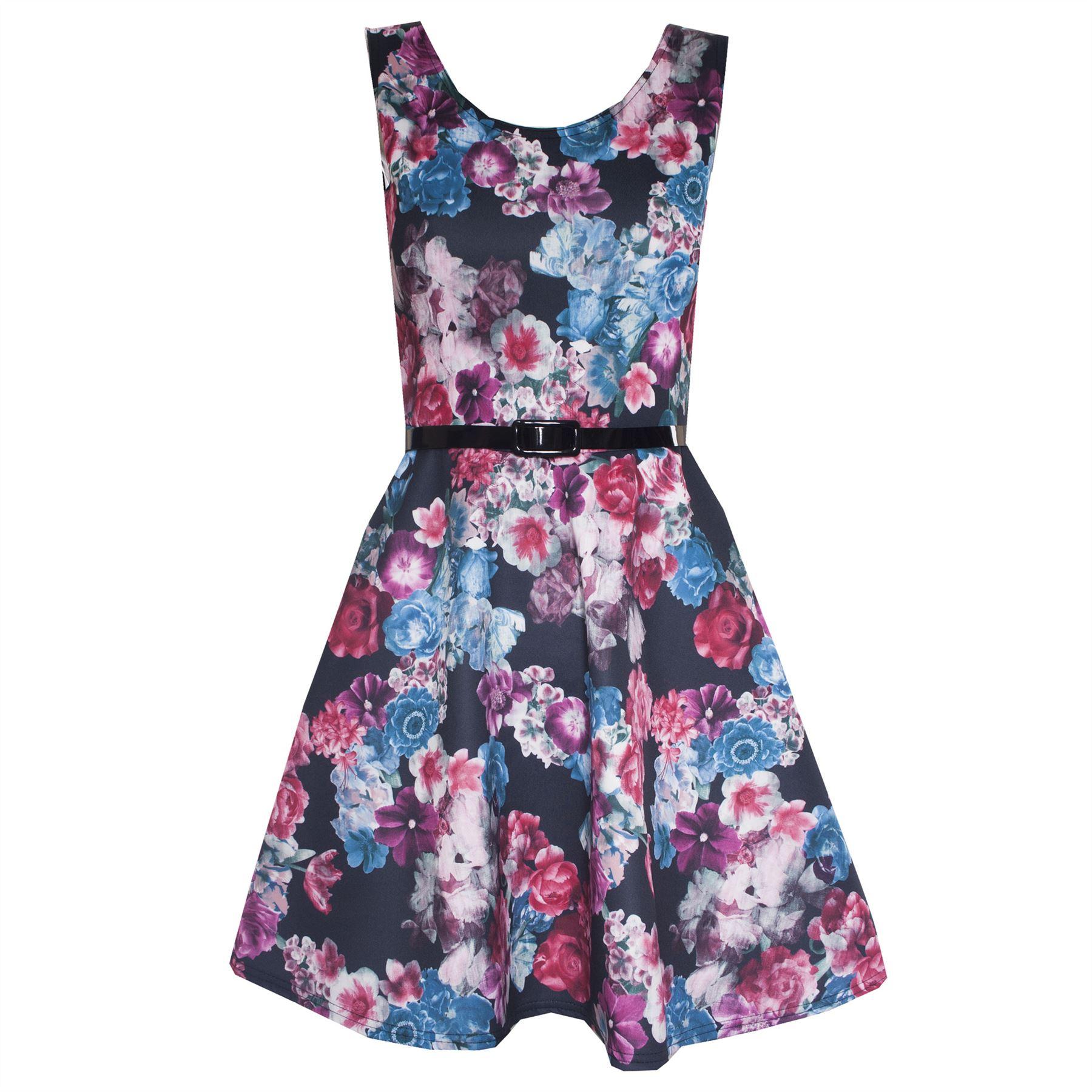 new womens floral frill midi bodycon skirt pencil