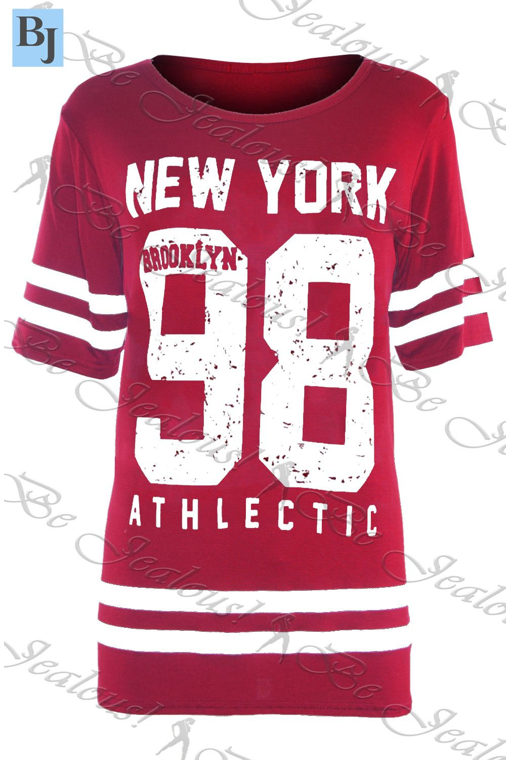 New Womens Ladies American Varsity Football Oversize Baggy T Shirt Top Plus Size