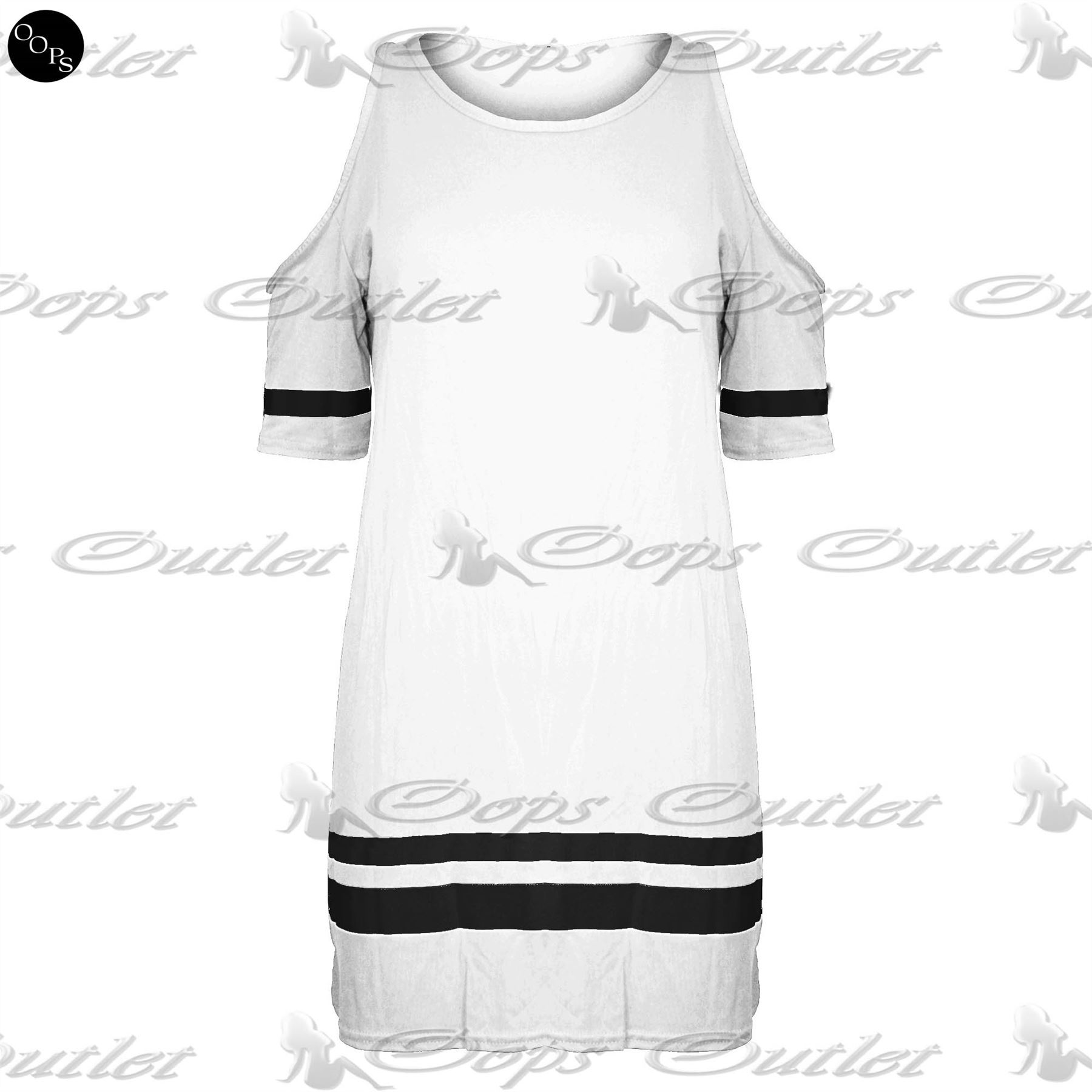 Womens Baseball Baggy Oversize Cut Out Shoulder Ladies T Shirt Vest Dress Top