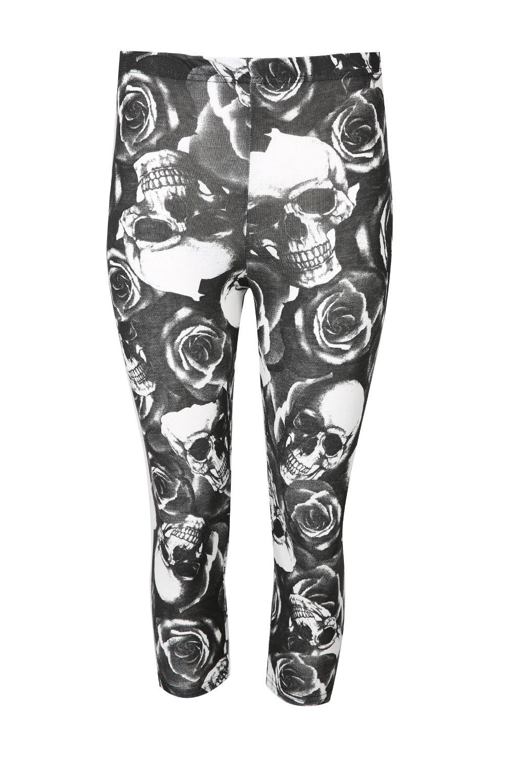 Womens Print 3/4 Length Jogging Running Trousers Ladies Gymming Bottoms Leggings
