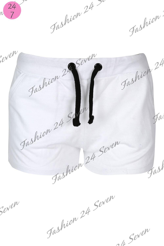Womens Ladies Gym Jersey Sport Training Casual Pockets Hot Pants Shorts UK 8-14
