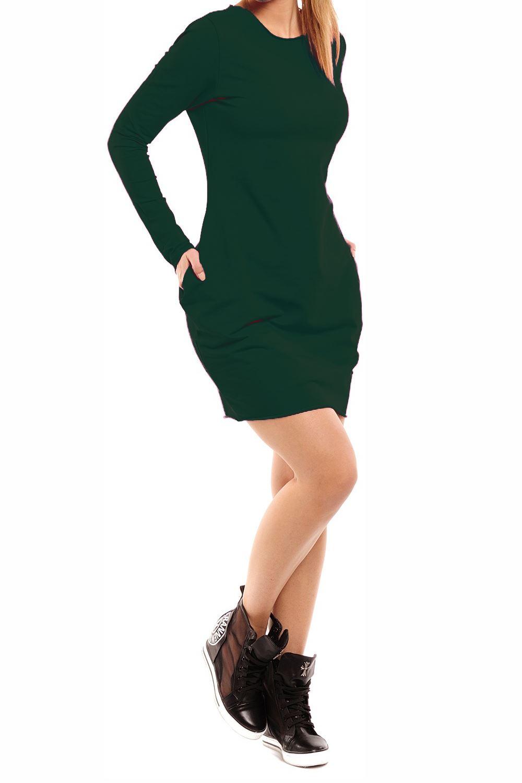 Womens Long Sleeve Tunic Fleece Long Sweat Jumper Winter Pockets Midi Dress 8-22