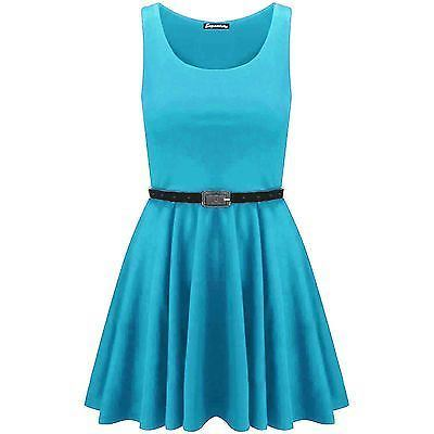 Womens-Flared-Franki-Sleeveless-Plus-Size-Party-Ladies-Skater-Dress-Top-16-26