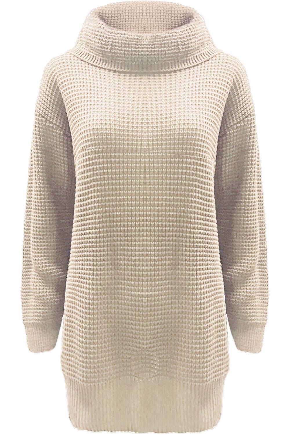 Ladies Chunky Knit Jumper - Gray Cardigan Sweater