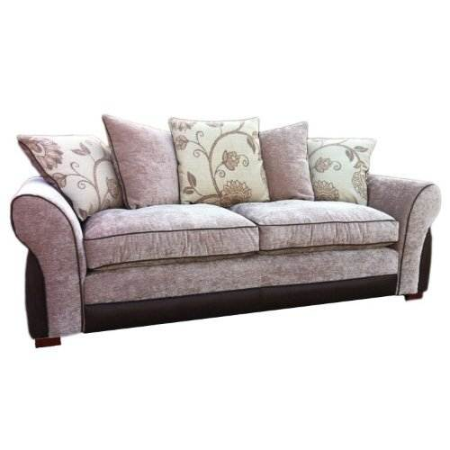 Melbourne 3 seater sofa 220 x 90 x 90 cm chenille fabric for Sofa 90 cm sitztiefe