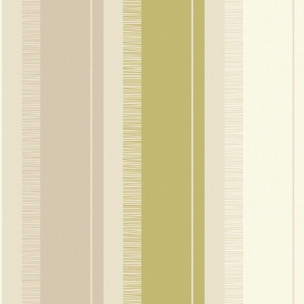 Carta da parati anika righe interni verde lime bianco for Carta da parati a righe