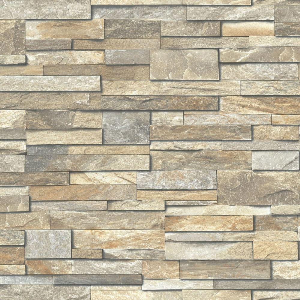 ... 02-6 - Slate Brick Effect Realistic - Galerie Exposed Wallpaper  eBay