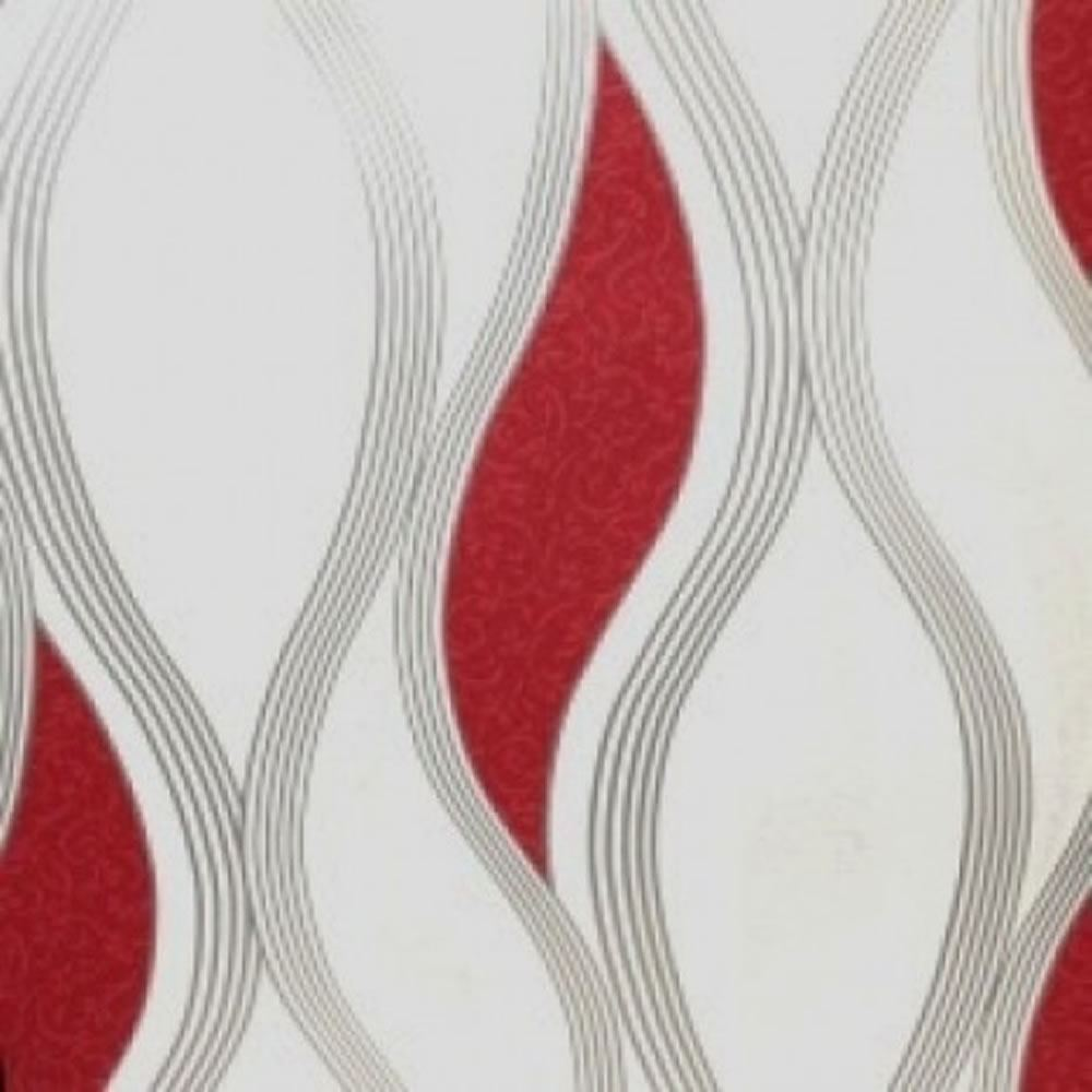 Papel tapiz rojo plateado blanco e62010 olas textura for Papel de pared plata