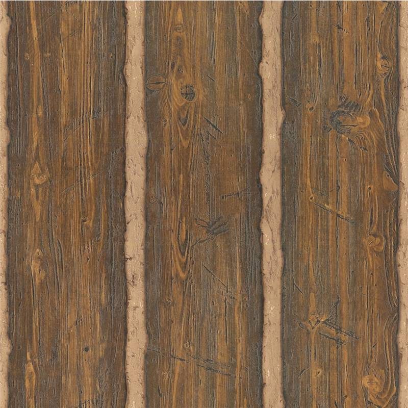 Dark wood panel 96501 rustic cushion vinyl for Brewster wallcovering wood panels mural 8 700