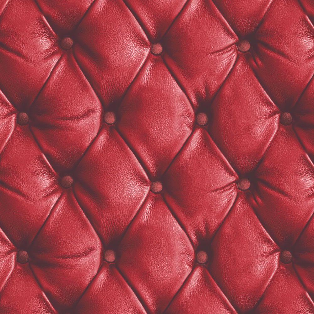 Carta da parati simil pelle divano rossa 618101 ebay for Carta da parati damascata rossa
